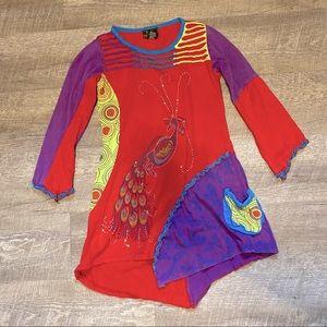 Rising International Peacock Dress Girls 6